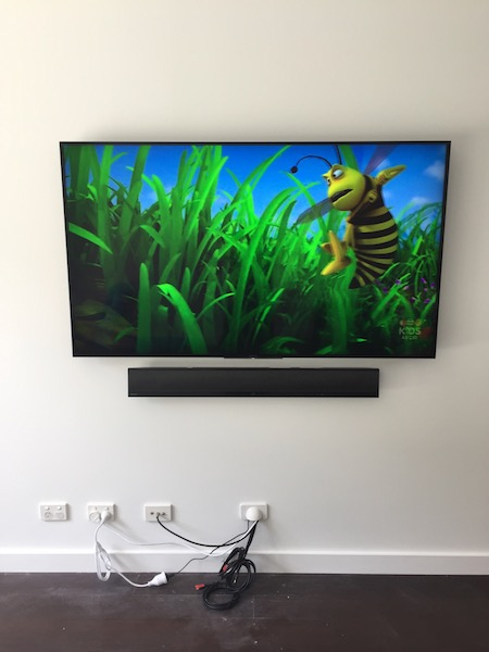 Sony Television And Soundbar Wall Mounted Sydney