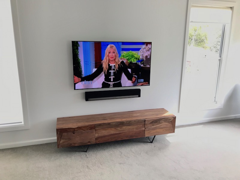 LG TV & Sonos Playbar Wall Mounting & Installation Northern Beaches