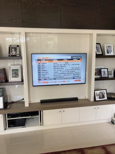 Sony TV Installation and Wall Mounting in Pymble North Shore Sydney