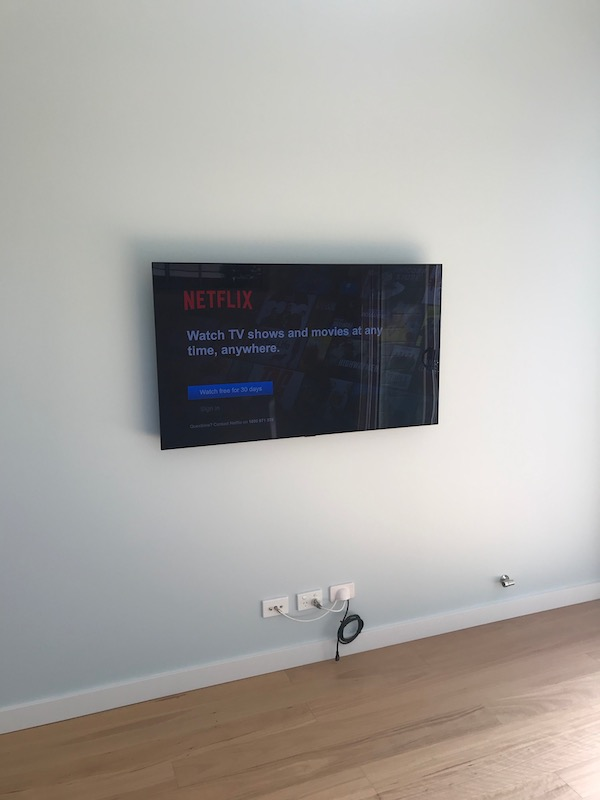 Samsung Television Wall Mounting in Granny Flat